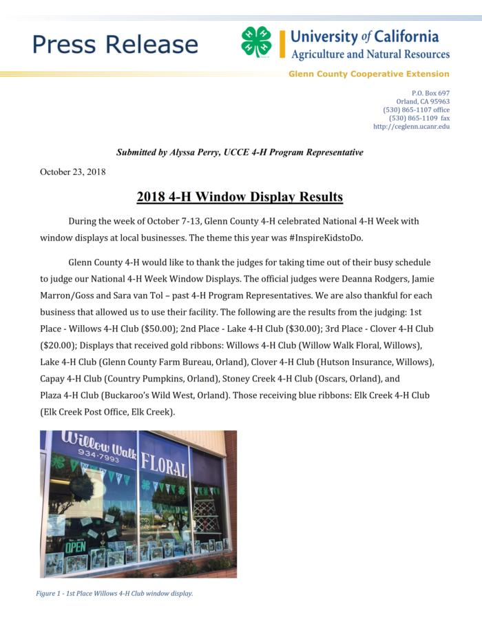 2018 Window Display Results Press Release_001