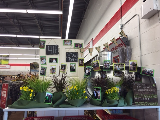Clover 4-H Club's 5th place Window Display located in Tractor Supply in Willows.