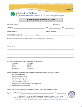 2017 Glenn County 4-H Scholarship Guidelines & Application_002