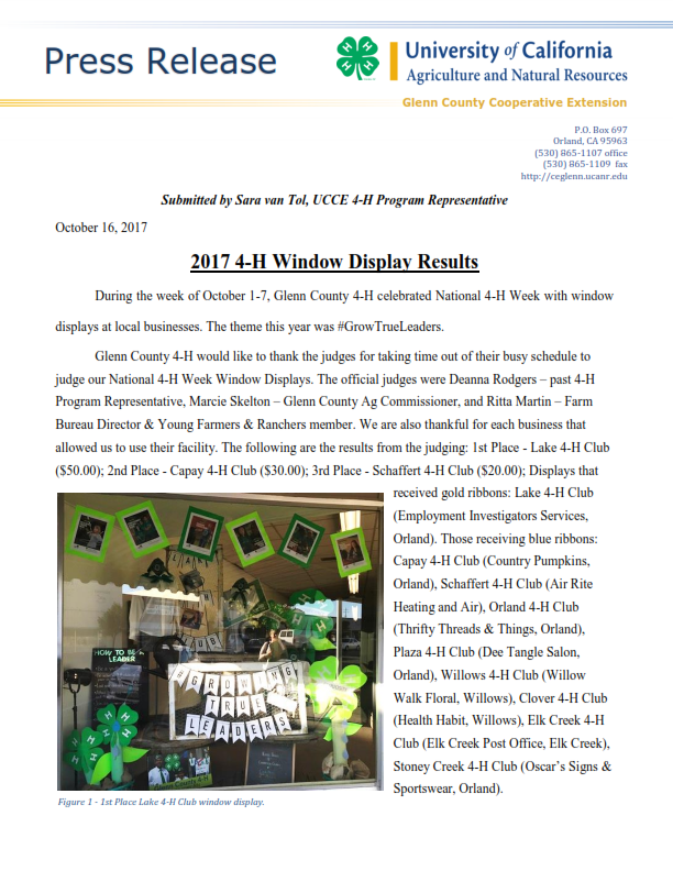2017 Window Display Results Press Release_001
