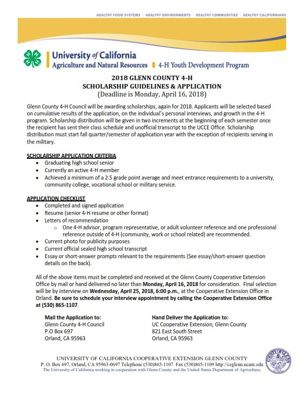 Scholarship Application 2018_001